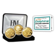 The Highland Mint Miami Dolphins 2x Super Bowl Champions Gold Coin Set