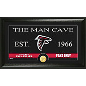 The Highland Mint Atlanta Falcons 'The Man Cave' Framed Bronze Coin Photo Mint