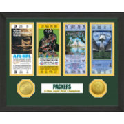 The Highland Mint Green Bay Packers Super Bowl Championship Ticket Collection