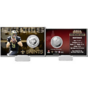The Highland Mint New Orleans Saints Drew Brees Silver Coin Card