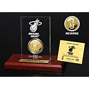 The Highland Mint Miami Heat Gold Coin Etched Acrylic