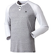 Hurley Men's Big Ben Raglan Long Sleeve Shirt