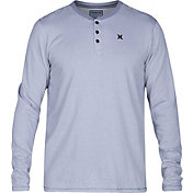 Hurley Men's Dri-FIT Lookout Henley Long Sleeve Shirt