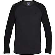 Hurley Men's Yesterday Raglan Crew Long Sleeve Shirt