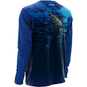 Huk Men's KScott Blue Storm Performance Long Sleeve Shirt