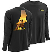 Huk Men's KScott PF Twighlight Long Sleeve Shirt