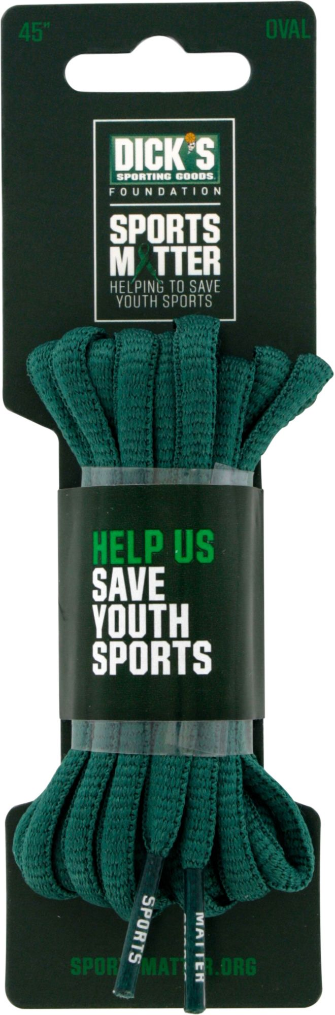 The DICKS Sporting Goods Foundation: Sports Matter Green Oval 45?? Laces DICKS Sporting Goods