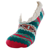 Yaktrax Women's Double Layer Footie Slipper Socks