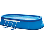 Intex Oval Frame 20' x 12' x 48'' Backyard Pool with Filter Pump