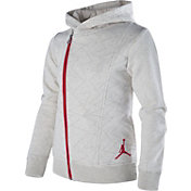 Jordan Girls' Faux Quilted Full Zip Jacket