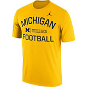 Jordan Men's Michigan Wolverines Maize Lift Football Legend T-Shirt
