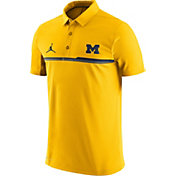 Jordan Men's Michigan Wolverines Maize Elite Coaches Performance Polo