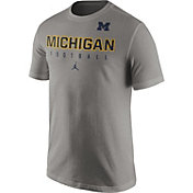 Jordan Men's Michigan Wolverines Grey Football Practice T-Shirt