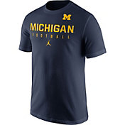 Jordan Men's Michigan Wolverines Blue Football Practice T-Shirt
