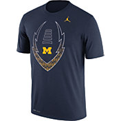 Jordan Men's Michigan Wolverines Blue Football Icon Legend T-Shirt