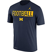Jordan Men's Michigan Wolverines Blue FootbALL Legend T-Shirt