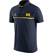Jordan Men's Michigan Wolverines Blue Elite Coaches Performance Polo