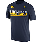 Jordan Men's Michigan Wolverines Blue Legend Staff Sideline T-Shirt