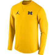 Jordan Men's Michigan Wolverines Maize Modern Crew