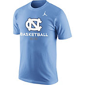 Jordan Men's North Carolina Tar Heels Carolina Blue University ELITE Basketball T-Shirt