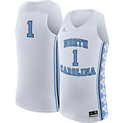 Jordan Men's North Carolina Tar Heels White #1 Replica Basketball Jersey