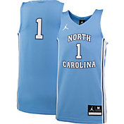 Jordan Youth North Carolina Tar Heels #1 Carolina Blue Replica Basketball Jersey