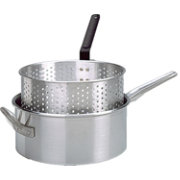 King Kooker 10 Quart Aluminum Deep Fryer Pan and Basket