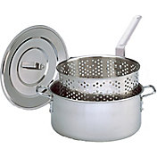 King Kooker 10 Quart Stainless Steel Deep Fryer Pan with Lid and Basket