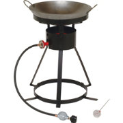 "King Kooker 24"" Outdoor Cooker with 18"" Wok Ring Top"