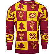 Klew Men's Arizona State Sun Devils Maroon Ugly Sweater