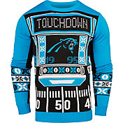 KLEW Men's Carolina Panthers Light Up Ugly Sweater