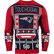KLEW Men's New England Patriots Light Up Ugly Sweater