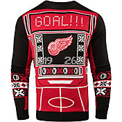 Klew Men's Detroit Red Wings Light-Up Ugly Sweater
