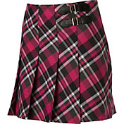 Lady Hagen Women's Paris Collection Buckle Yarn Dyed Golf Skort