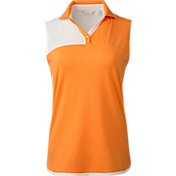 Lady Hagen Women's Sunset Collection Colorblock Sleeveless Golf Polo