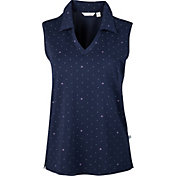 Lady Hagen Essentials Thistle Dot Sleeveless Golf Polo