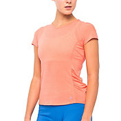 LIJA Women's Stripe Fluid Tennis T-Shirt
