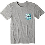 Life is good Men's Slub Pocket Grey T-Shirt