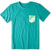 Life is good Men's Slub Pocket Teal T-Shirt