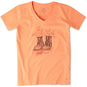 Life is Good Women's Happy Trails Boots Crusher T-Shirt