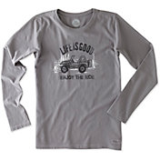 Life is Good Women's Enjoy the Ride Crusher Long Sleeve T-Shirt