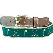 Leather Man Crossed Clubs Golf Belt