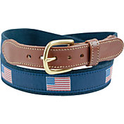 Leather Man American Flag Golf Belt