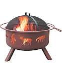 "Landmann Wildlife 29.5"" Georgia Clay Fire Pit"