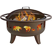 "Landmann Bear & Paw 29.5"" Metallic Brown Fire Pit"