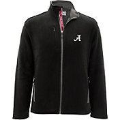Levelwear Men's Alabama Crimson Tide Black Alpine Full-Zip Jacket