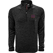 Levelwear Men's Auburn Tigers Grey Armour Quarter-Zip Shirt