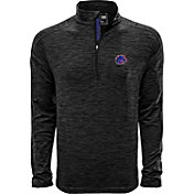 Levelwear Men's Boise State Broncos Grey Armour Quarter-Zip Shirt
