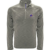 Levelwear Men's Boise State Broncos Grey Mobility Long Sleeve Quarter-Zip Shirt