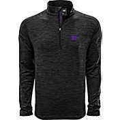 Levelwear Men's Kansas State Wildcats Grey Armour Quarter-Zip Shirt